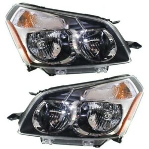 Headlight Set For 2009 2010 Pontiac Vibe Left And Right With Bulb 2pc