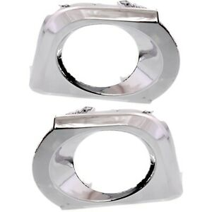 Fog Light Lamp Bezel Chrome Trim Lh Rh Kit Pair For Toyota 4runner Truck New