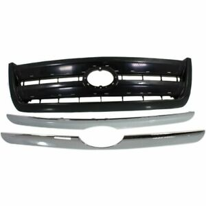 Grille For 2003 2006 Toyota Tundra Black Plastic
