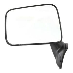 Manual Mirror For 1987 1988 Toyota Pickup Driver Side Textured Black