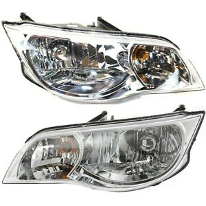 Headlight Set For 2003 2007 Saturn Ion Coupe Left And Right With Bulb 2pc