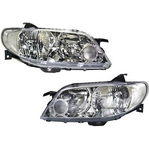 Headlight Set For 2002 2003 Mazda Protege5 Hatchback Left And Right 2pc