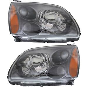 Headlight Set For 2004 2009 Mitsubishi Galant Left And Right With Bulb 2pc