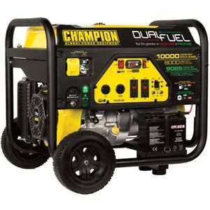 Champion 100297 8000 Watt Electric Start Dual Fuel Portable Generator