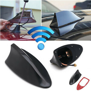 Shark Fin Roof Antenna Aerial Fm Am Radio Signal Decoration Car Trim Black