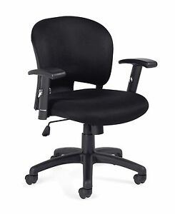 Lot Of 6 Black Otg11800b mesh Fabric Managers Chairs