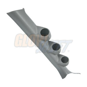 Glowshift Gray Triple Gauge 52mm Pillar Pod For 08 15 Mitsubishi Lancer Evo X