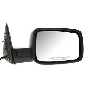 Mirror For 2009 2010 Dodge Ram 1500 With Signal Light Textured Black Front Right