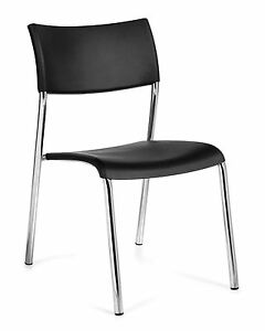 Lot Of 8 Black Otg1221b armless Stack Chairs