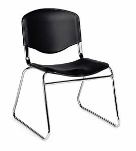 Black Otg11700 armless Stack Chair