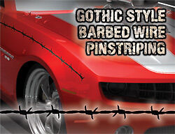 Barbedwire Pinstriping Gothic Style 4 Ford dodge chevy Etc Silver Color