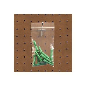 reclosable 2 Mil Poly Bags W hang Hole 6 X 9 Clear 1000 case
