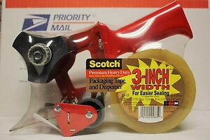 6x new 3m scotch shipping tape Gun dispenser heavy Duty 3 bp 15 W 1 Roll 45885