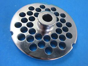 32 X 3 8 Meat Grinder Plate W Hub Stainless Fits Hobart Cabelas Lem