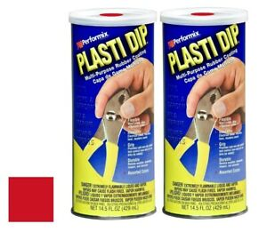 Plasti Dip 11601 6 Mulit purpose Red Synthetic Rubber Coating 14 5 Oz 3 Pack
