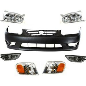 Bumper Kit For 2001 2002 Toyota Corolla Front 4 Door Sedan 7pc