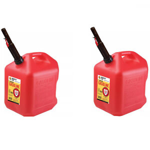 2 X Gas Cans 5 Gallon Capacity Midwest