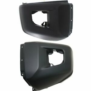 Bumper End Set For 2014 2016 Toyota Tundra Front Lh Rh Textured Pair