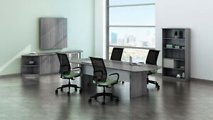 8ft Conference Table Set With Gray Steel Laminate Finish As Pictured No Chairs
