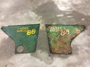 Oliver 88 Row Crop Tractor Rear Engine Side Shields
