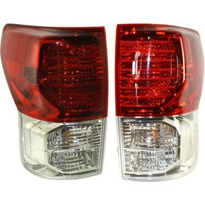 Set Of 2 Tail Light For 2010 2013 Toyota Tundra Lh Rh W Bulb s