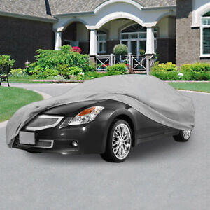 New Universal Full Size Car Cover Outdoor Uv Dust Protection Breathable