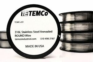 Temco Stainless Steel Wire 316l Non resistance Awg Ga