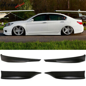 Fits 13 15 Honda Accord Hfp Style Front Rear Bumper Lip Splitter 4pcs