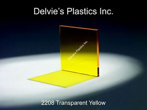 1 4 2208 Transparent Yellow Cell Cast Acrylic Sheet 24 X 24