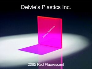 1 8 2085 Fluorescent Red Cell Cast Acrylic Sheet 12 X 24