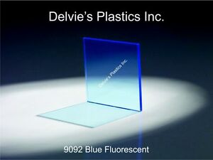 5 Sheets 1 8 9092 Fluorescent Blue Cell Cast Acrylic Sheet 12 X 12