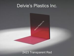 5 Sheets Red Transparent Acrylic Plexiglass Sheet 3 16 X 12 X 12 2423