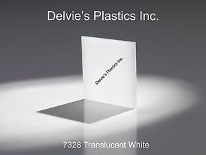 5 Sheets 1 8 7328 Translucent Bright White Cell Cast Acrylic Sheet 12 X 12