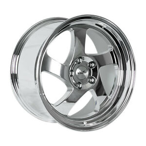 18x9 5 Whistler Kr1 5x114 3 35 Chrome Wheels Fits Civic Veloster Eclipse Accord