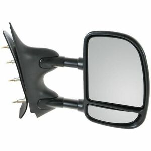 Manual Dual Arm Telescoping Mirror Passenger Right Rh For Ford Van Econoline