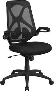 Lot Of 8 High Back Black Mesh Executive Swivel Office Chair