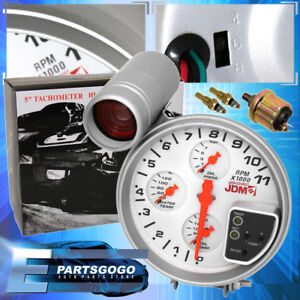 For Nissan Jdm Sport Racing 5 4 In 1 Rpm Tachometer Gauge W Shift Light White