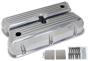 Aluminum 1962 85 Ford Sb 289 302 351w 5 0 Tall Valve Covers Finned Polished
