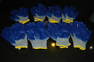 Lot Of 100 Pairs Heavy Duty Premium Palm Coating Work Gloves One Size Fit All
