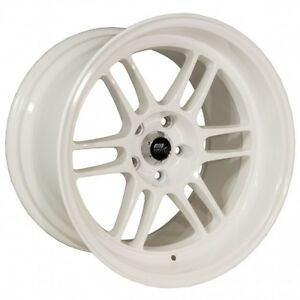 18x11 Mst Suzuka 5x114 3 10 Alpine White Wheels set Of 4