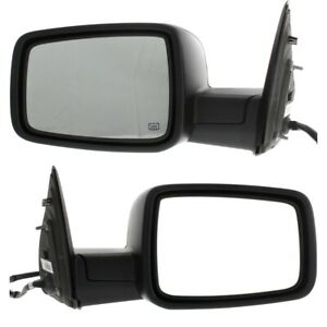 Power Mirror Set Of 2 For 2011 2012 Ram 1500 Manual Fold Heated Left And Right