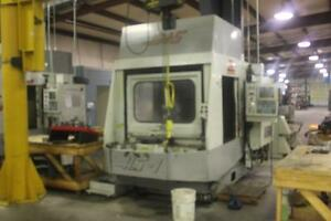 Used Haas Hs 1rp Cnc Horizontal Mill 1996 4th Axis 16 Pallet 24 20 22 Hmc