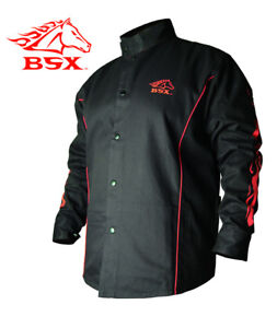 Stryker Fr Red Black Flames Welding Jacket