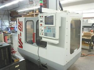 Used Haas Vf 0e Cnc Vertical Mill 1995 4th Axis 30 16 20 10000 Rpm Vf 2 Vmc