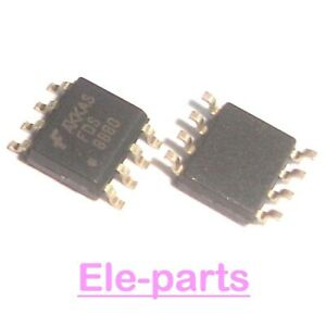 10 Pcs Fds8880 Sop 8 Fds 8880 Smd 8 N channel Powertrench Mosfet Ic