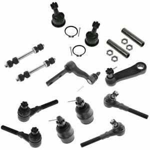 14 Piece Steering Suspension Kit Tie Rods Ball Joints Idler Pitman Arms New
