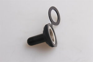 New Toggle Switch Waterproof 11mm 7 16 Rubber Cover Cap Water Proof Black 10pcs