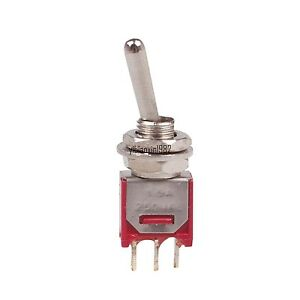 New 10pcs Spdt On on Mini Toggle Switch Single Pole Double Throw New