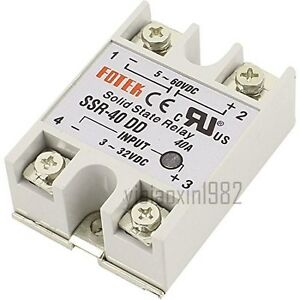 New Single Phase Solid State Relay Dc dc Ssr 40dd 40a Dc3 32v Dc5 60v