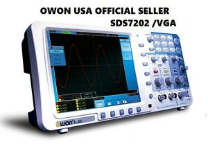 Owon 200mhz Oscilloscope Sds7202v 1g s 8 Lan Vga Free Firmware Upgrade Leads